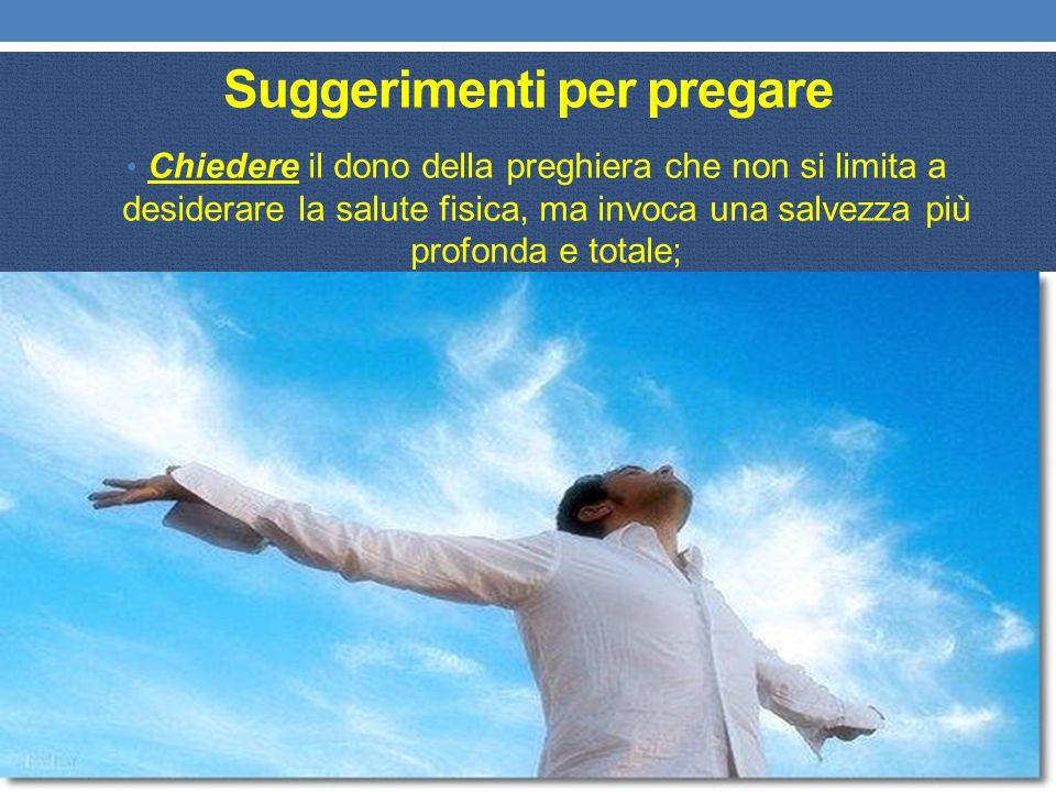 Suggerimenti per pregare