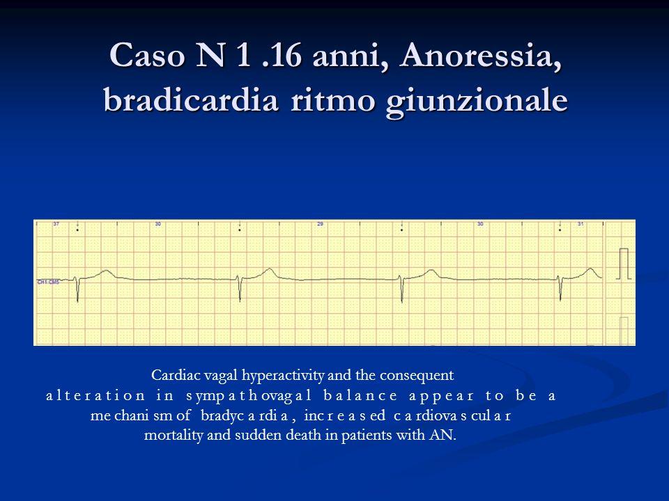 Caso N 1 .16 anni, Anoressia, bradicardia ritmo giunzionale