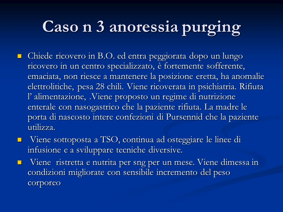 Caso n 3 anoressia purging