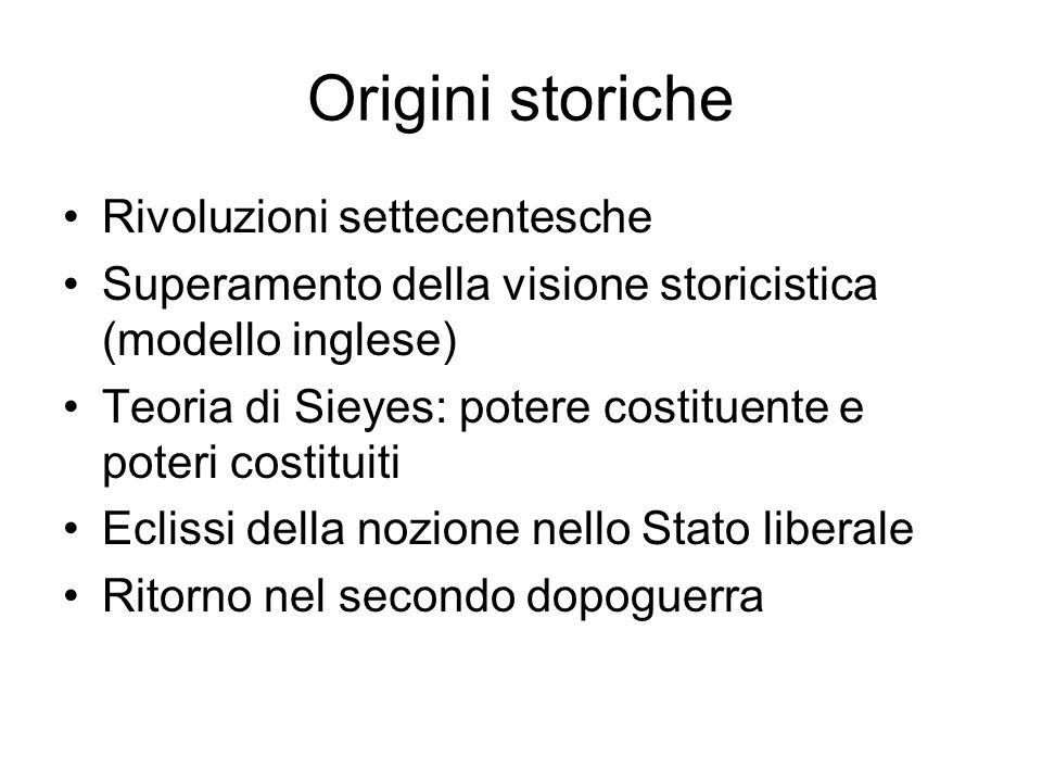 Origini storiche Rivoluzioni settecentesche