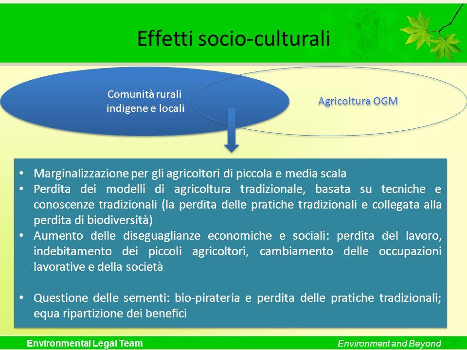 Effetti socio-culturali
