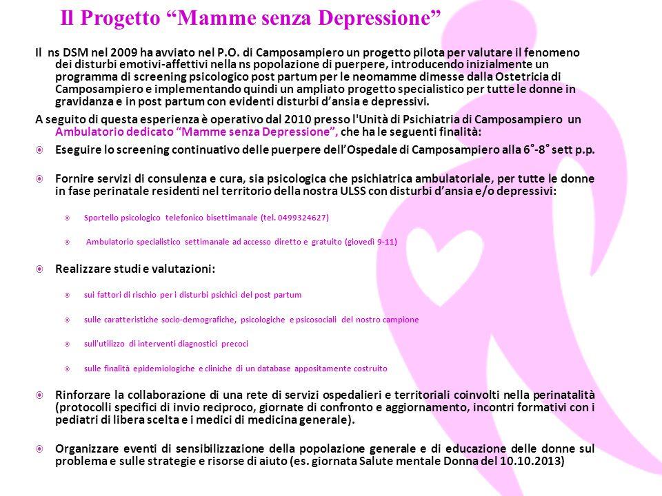 Il Progetto Mamme senza Depressione