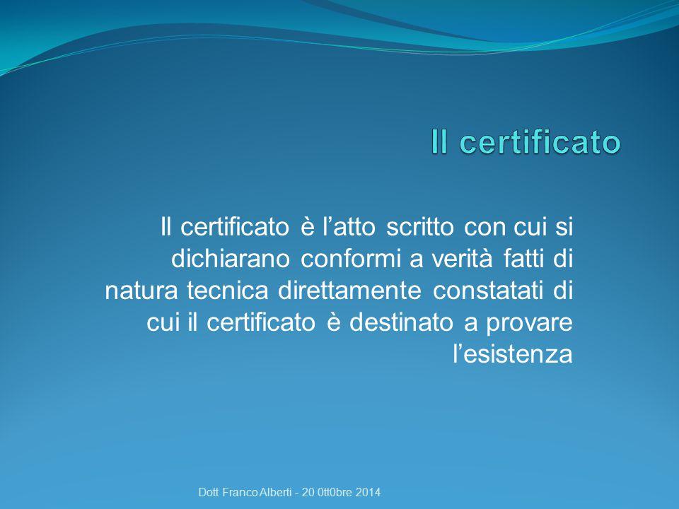 Il certificato