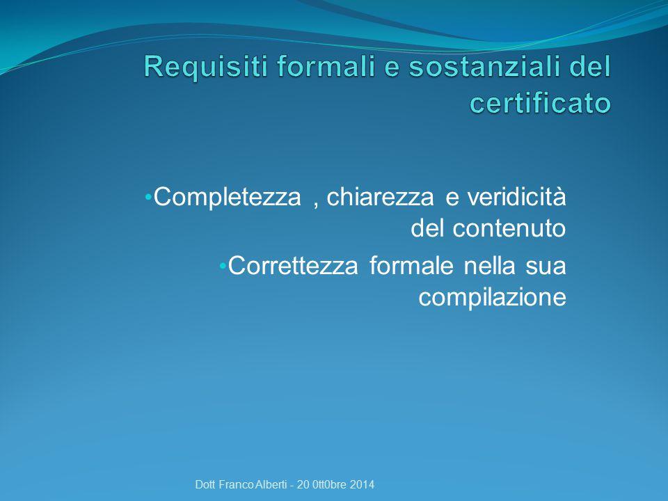 Requisiti formali e sostanziali del certificato