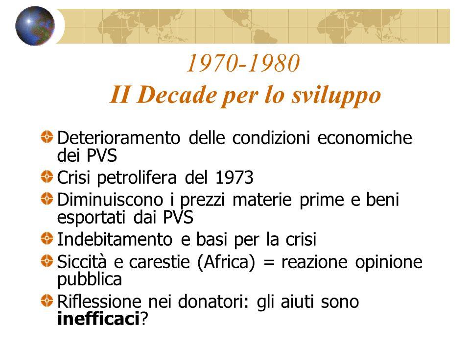 1970-1980 II Decade per lo sviluppo
