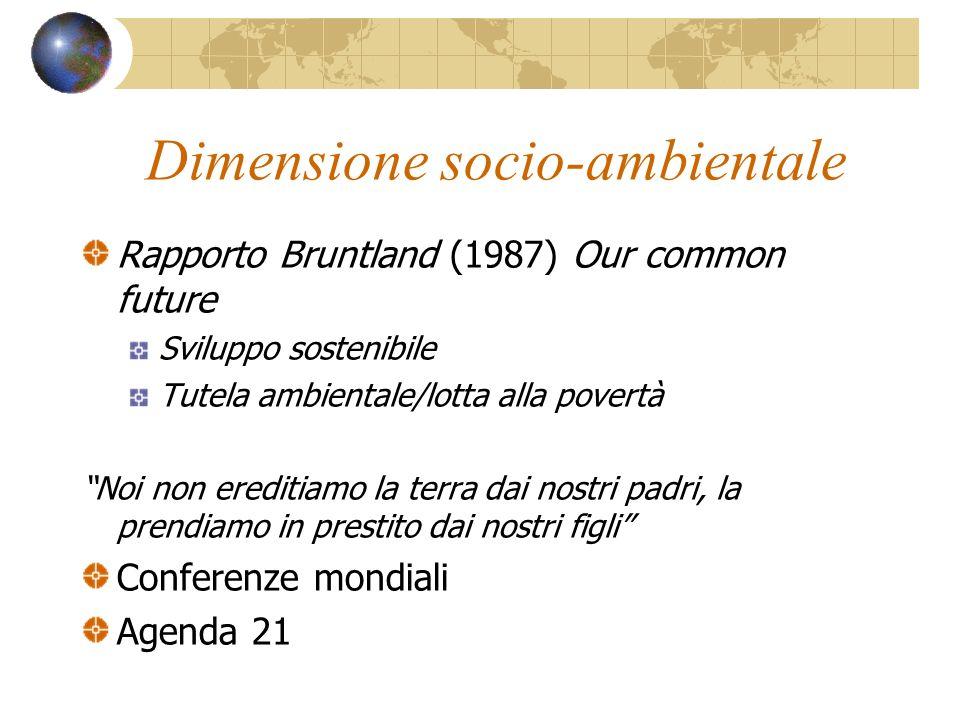 Dimensione socio-ambientale