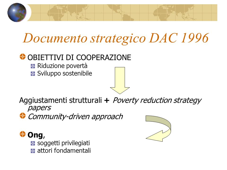 Documento strategico DAC 1996