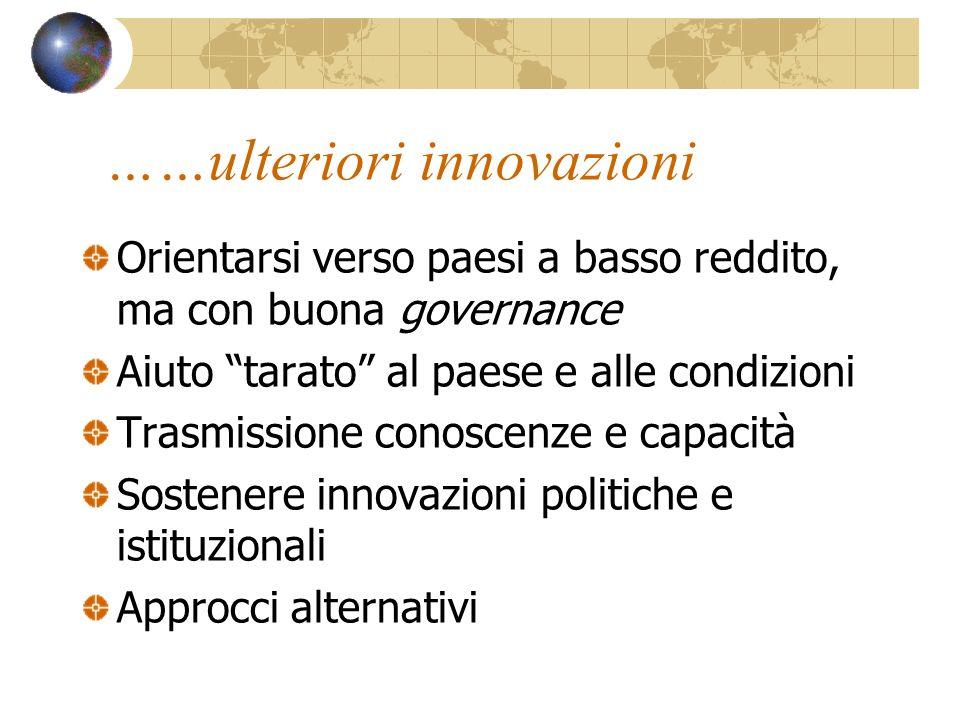 ……ulteriori innovazioni