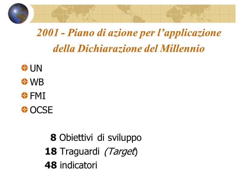 2001 - Piano di azione per l'applicazione della Dichiarazione del Millennio