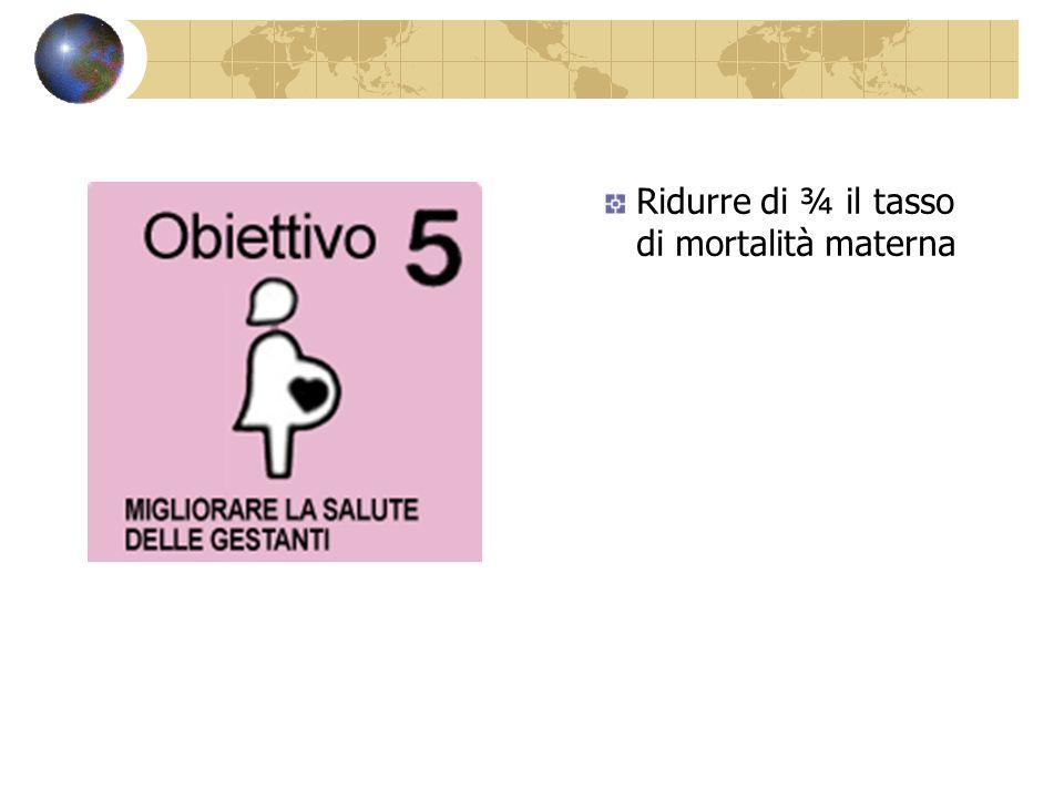 Ridurre di ¾ il tasso di mortalità materna