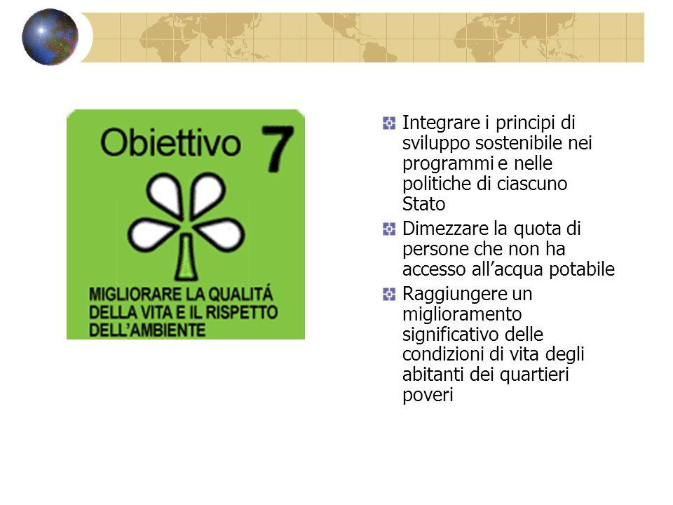 Integrare i principi di sviluppo sostenibile nei programmi e nelle politiche di ciascuno Stato