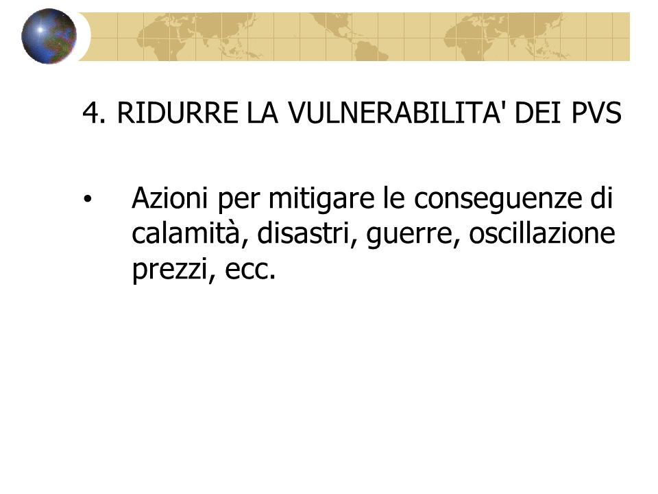 4. RIDURRE LA VULNERABILITA DEI PVS
