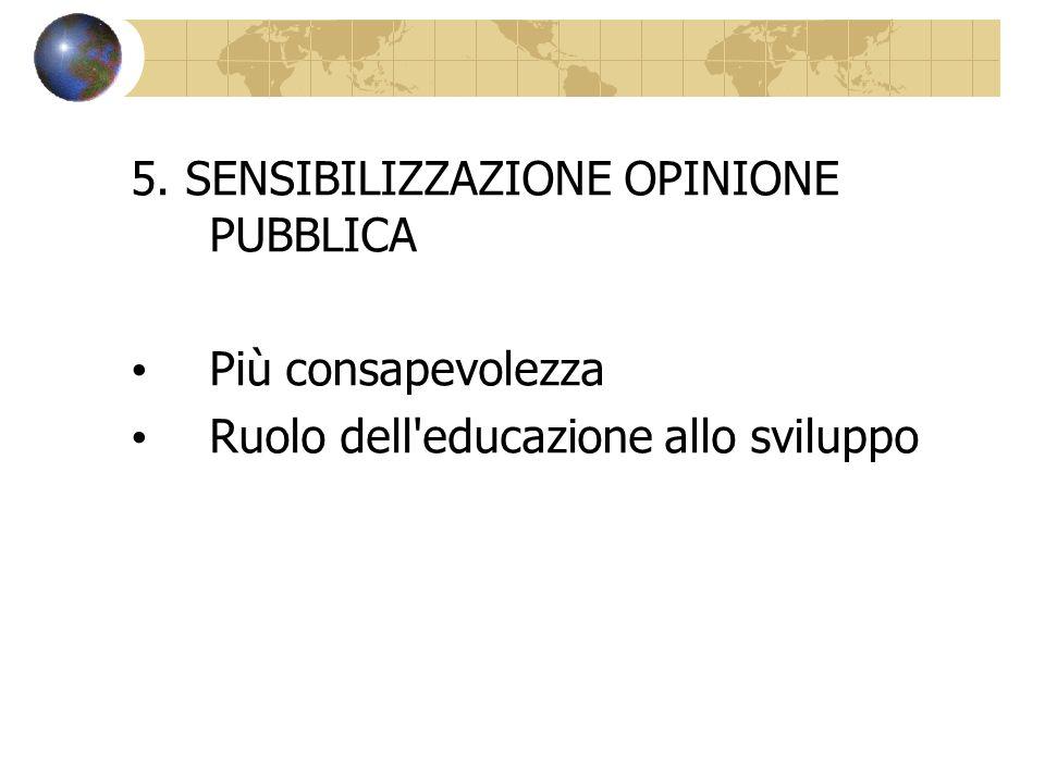 5. SENSIBILIZZAZIONE OPINIONE PUBBLICA