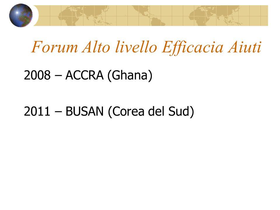 Forum Alto livello Efficacia Aiuti