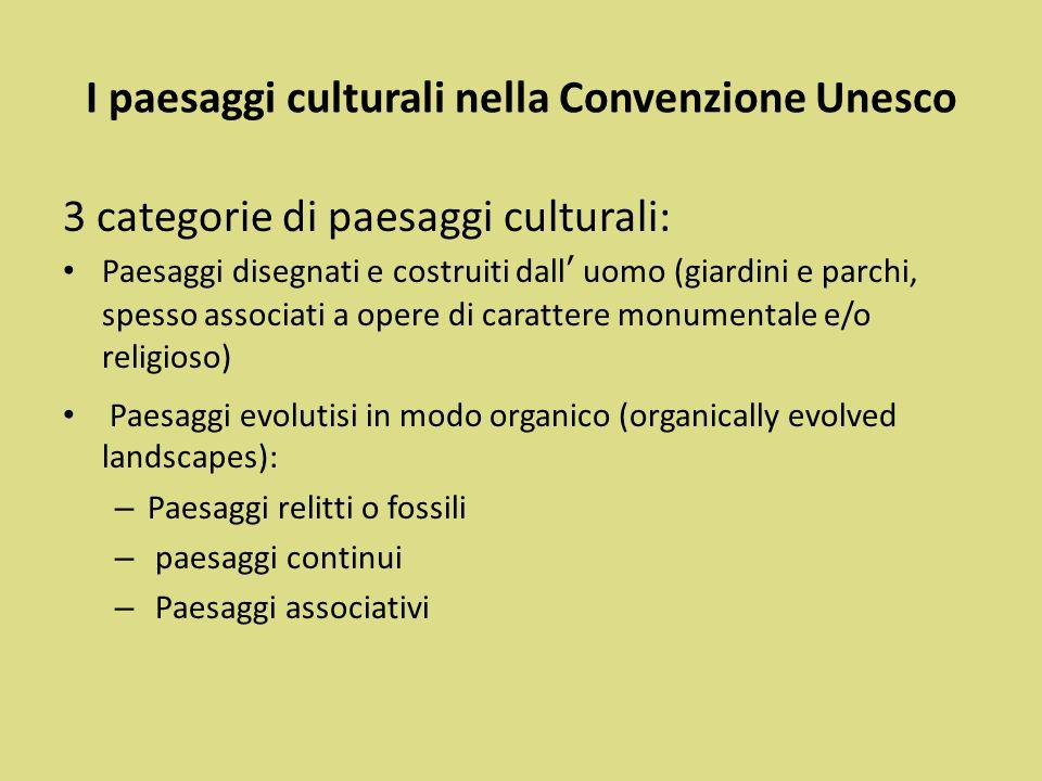 I paesaggi culturali nella Convenzione Unesco