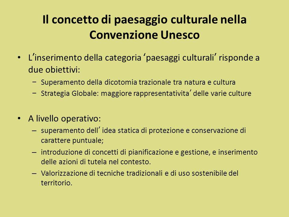 Il concetto di paesaggio culturale nella Convenzione Unesco