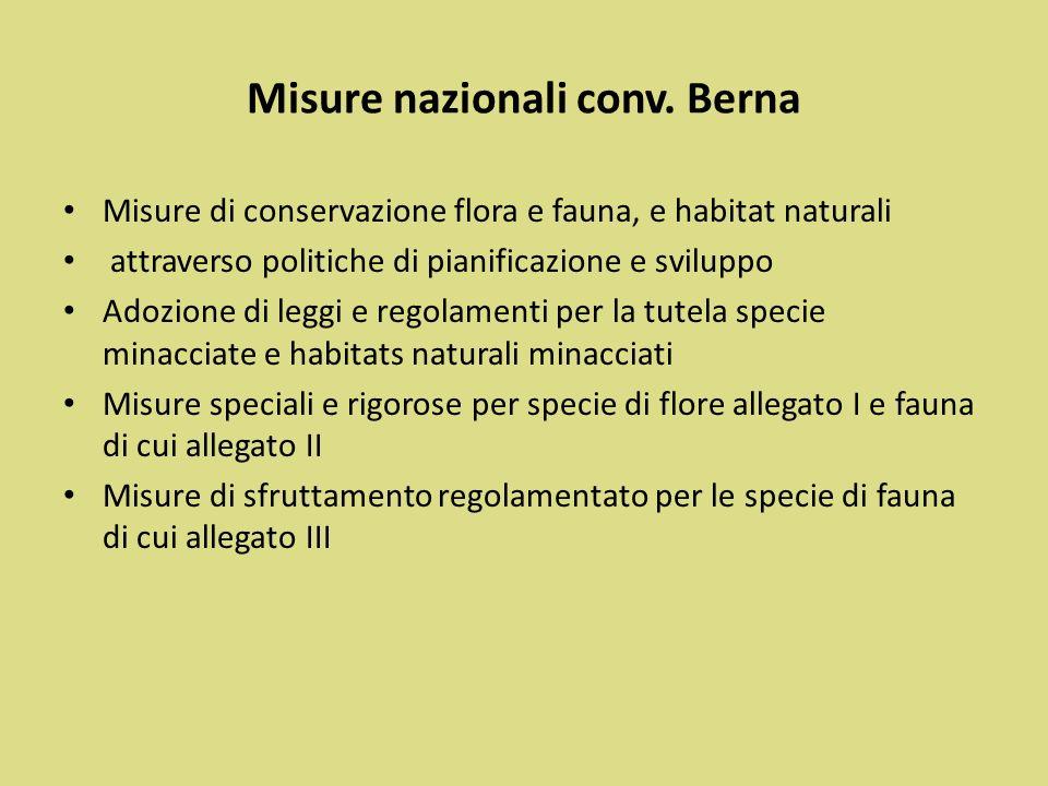 Misure nazionali conv. Berna