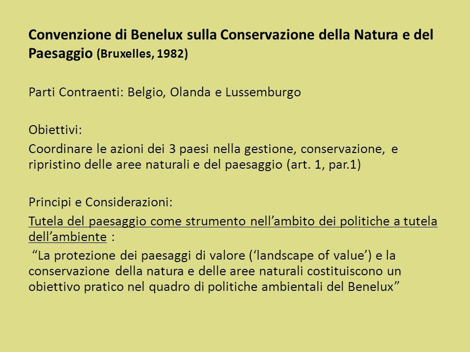 Convenzione di Benelux sulla Conservazione della Natura e del Paesaggio (Bruxelles, 1982)
