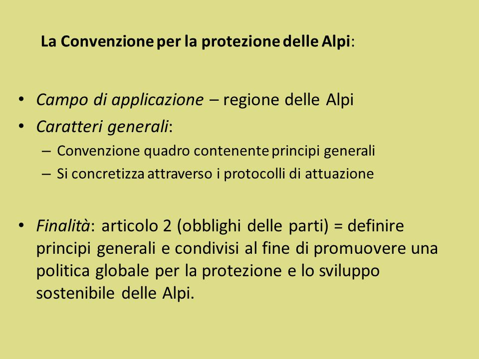 La Convenzione per la protezione delle Alpi: