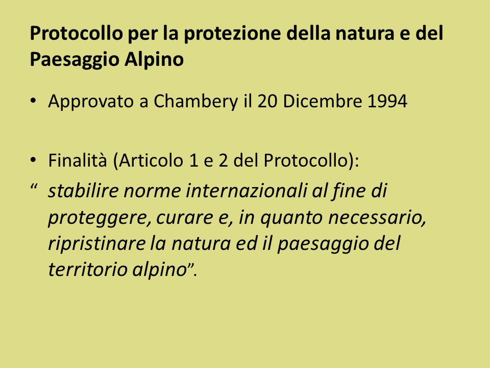 Protocollo per la protezione della natura e del Paesaggio Alpino