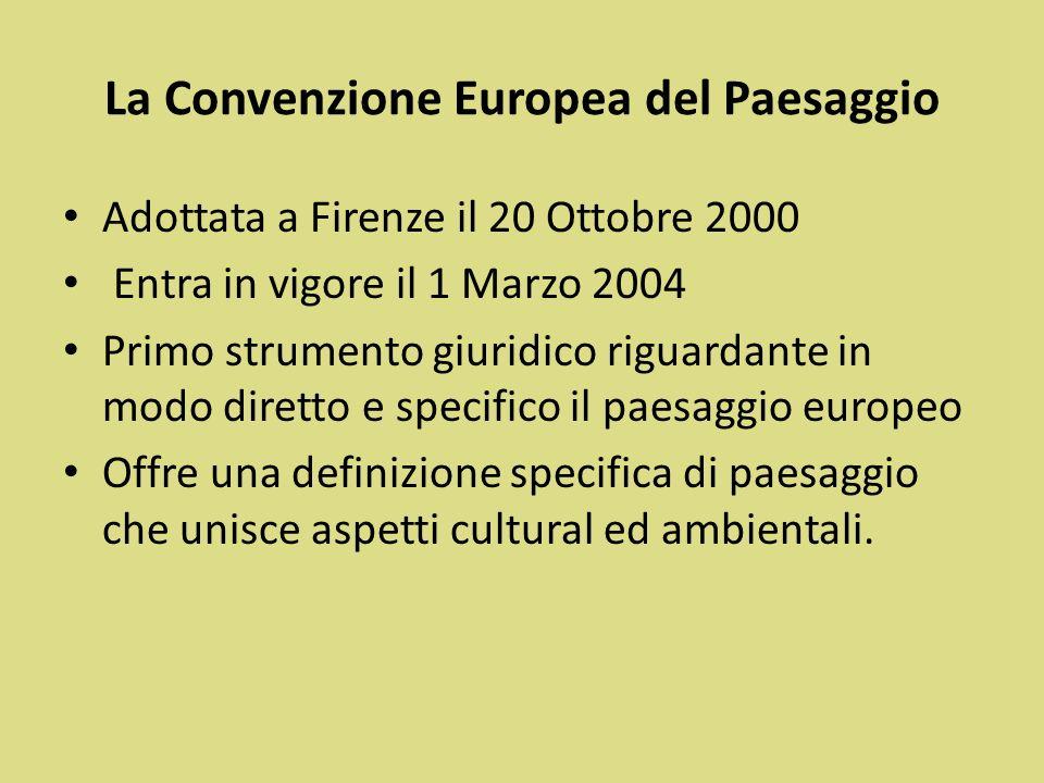 La Convenzione Europea del Paesaggio