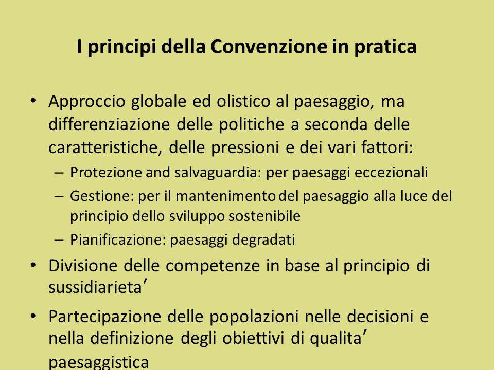 I principi della Convenzione in pratica