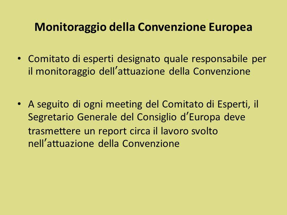 Monitoraggio della Convenzione Europea