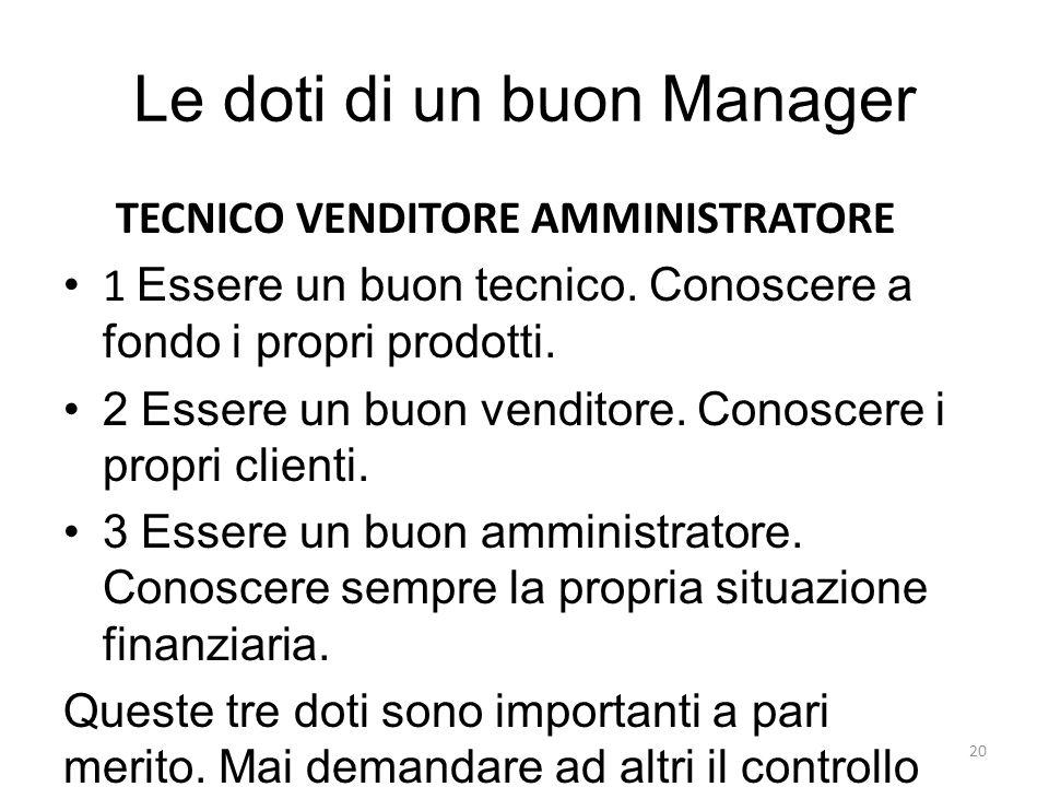 Le doti di un buon Manager