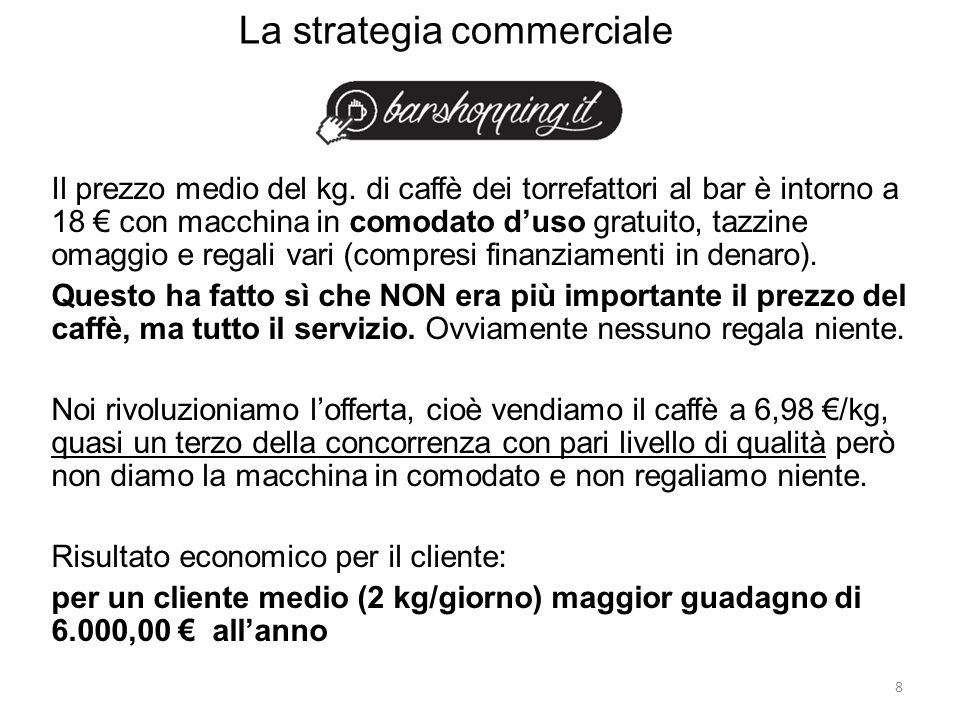 La strategia commerciale