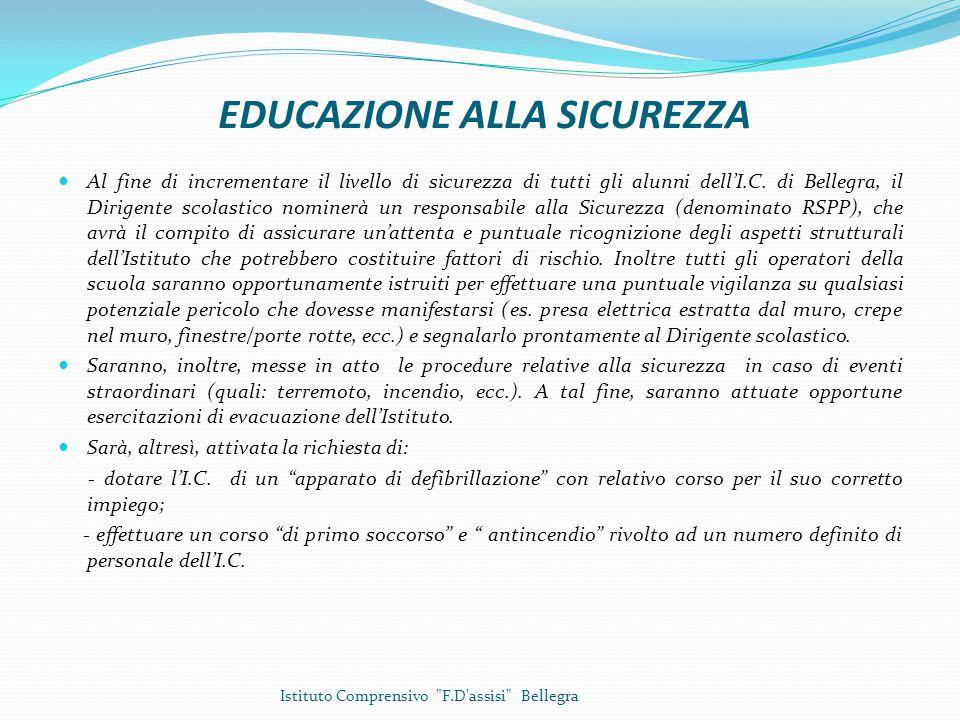 EDUCAZIONE ALLA SICUREZZA