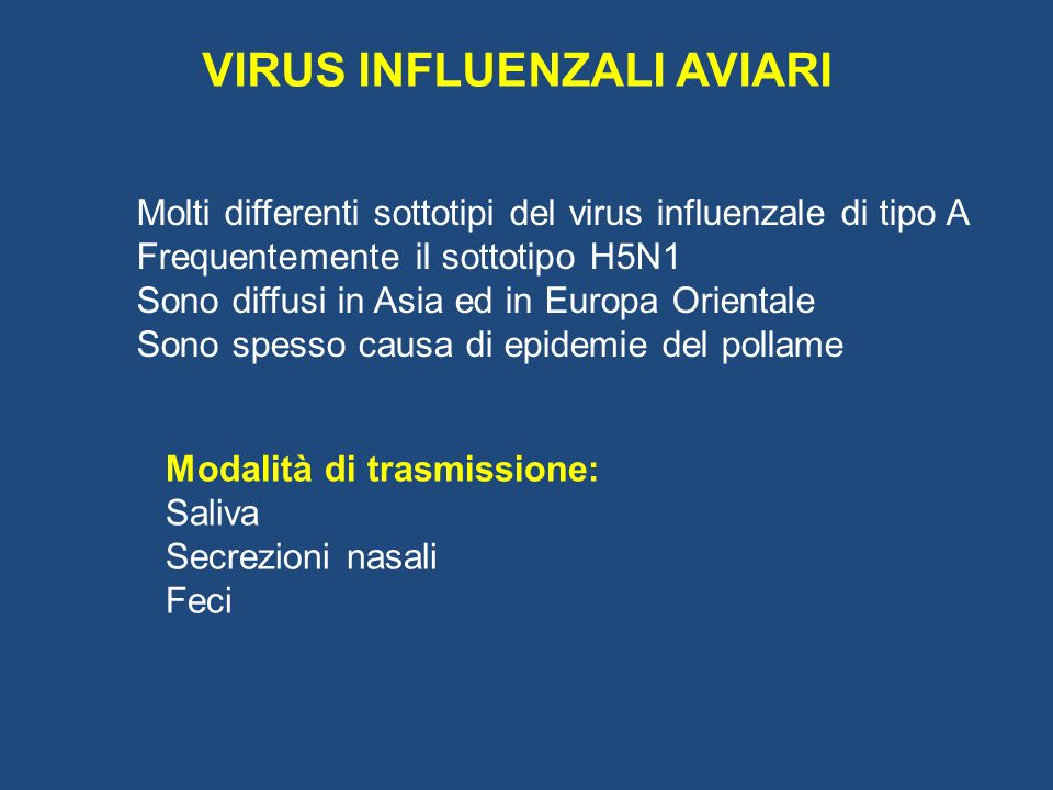 VIRUS INFLUENZALI AVIARI