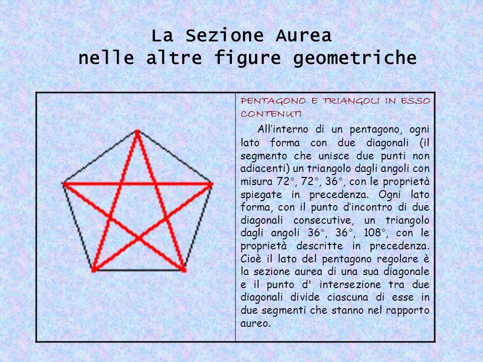La Sezione Aurea nelle altre figure geometriche