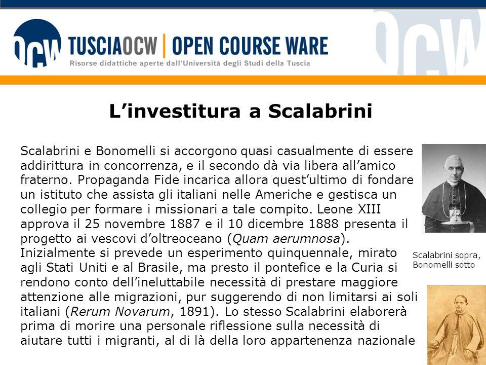 L'investitura a Scalabrini