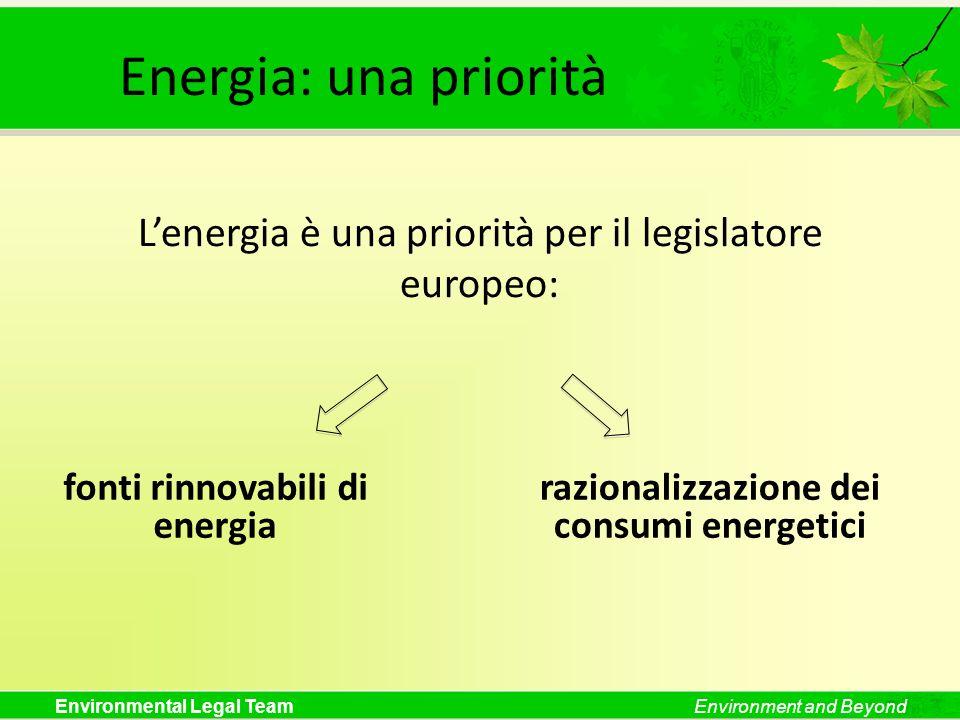 fonti rinnovabili di energia razionalizzazione dei consumi energetici