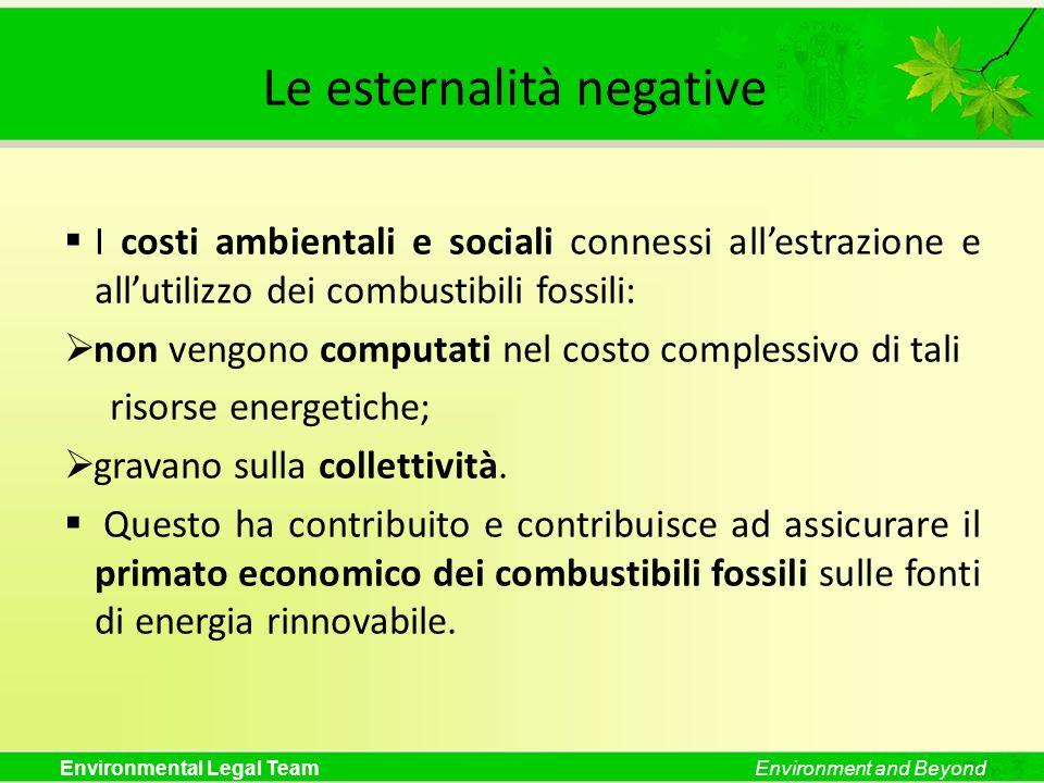 Le esternalità negative