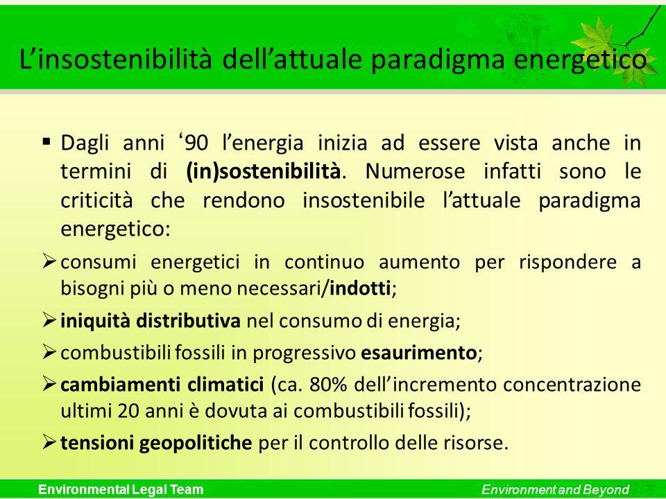 L'insostenibilità dell'attuale paradigma energetico