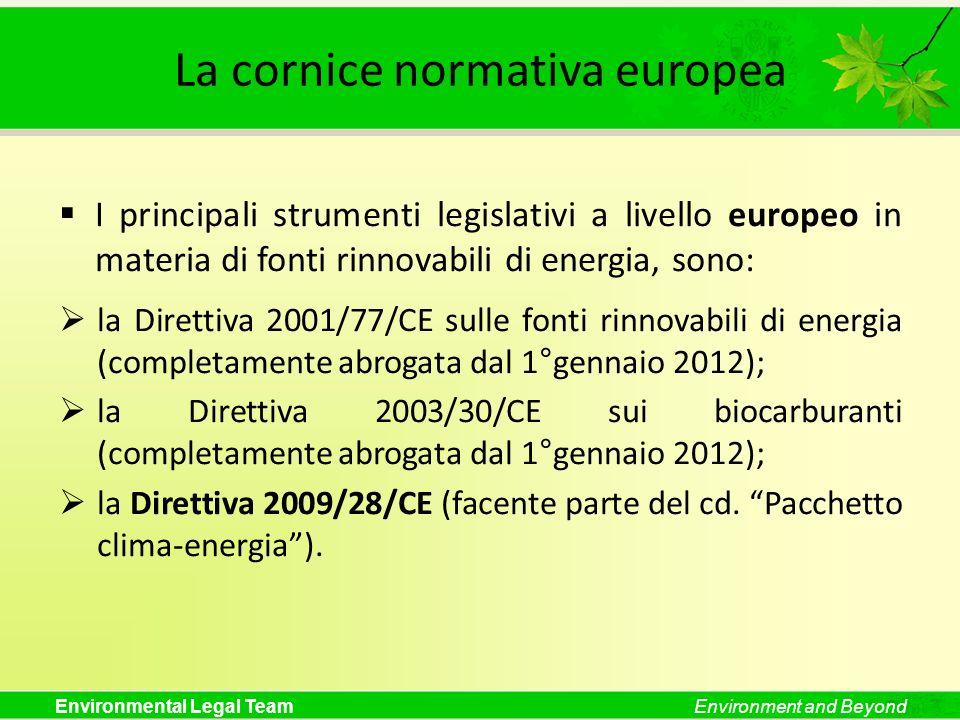 La cornice normativa europea