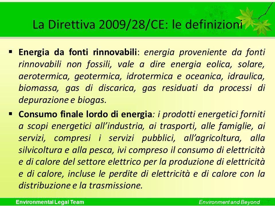 La Direttiva 2009/28/CE: le definizioni