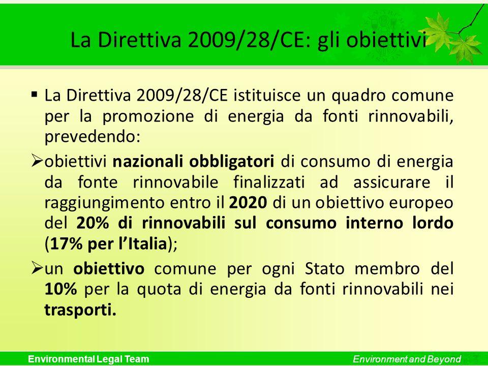 La Direttiva 2009/28/CE: gli obiettivi