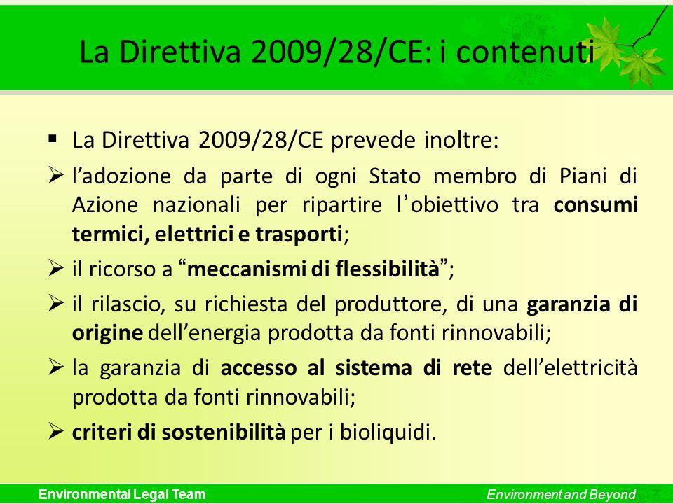 La Direttiva 2009/28/CE: i contenuti