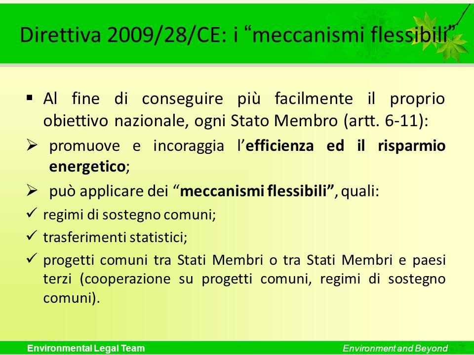 Direttiva 2009/28/CE: i meccanismi flessibili