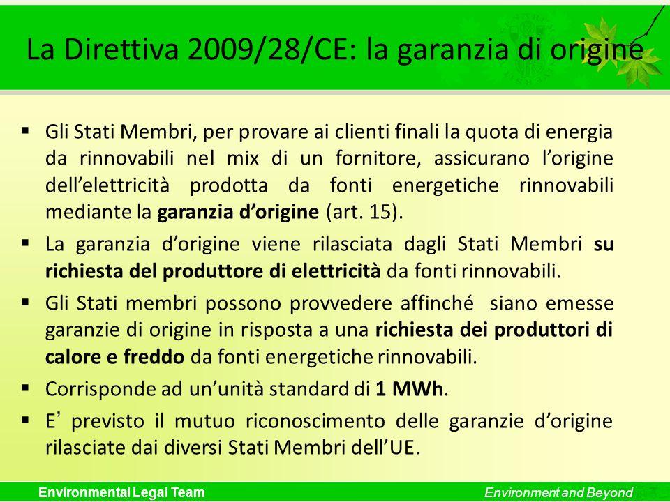 La Direttiva 2009/28/CE: la garanzia di origine