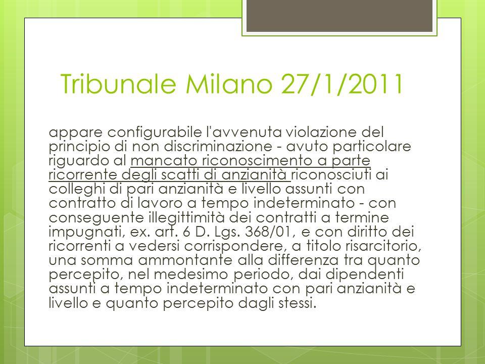 Tribunale Milano 27/1/2011
