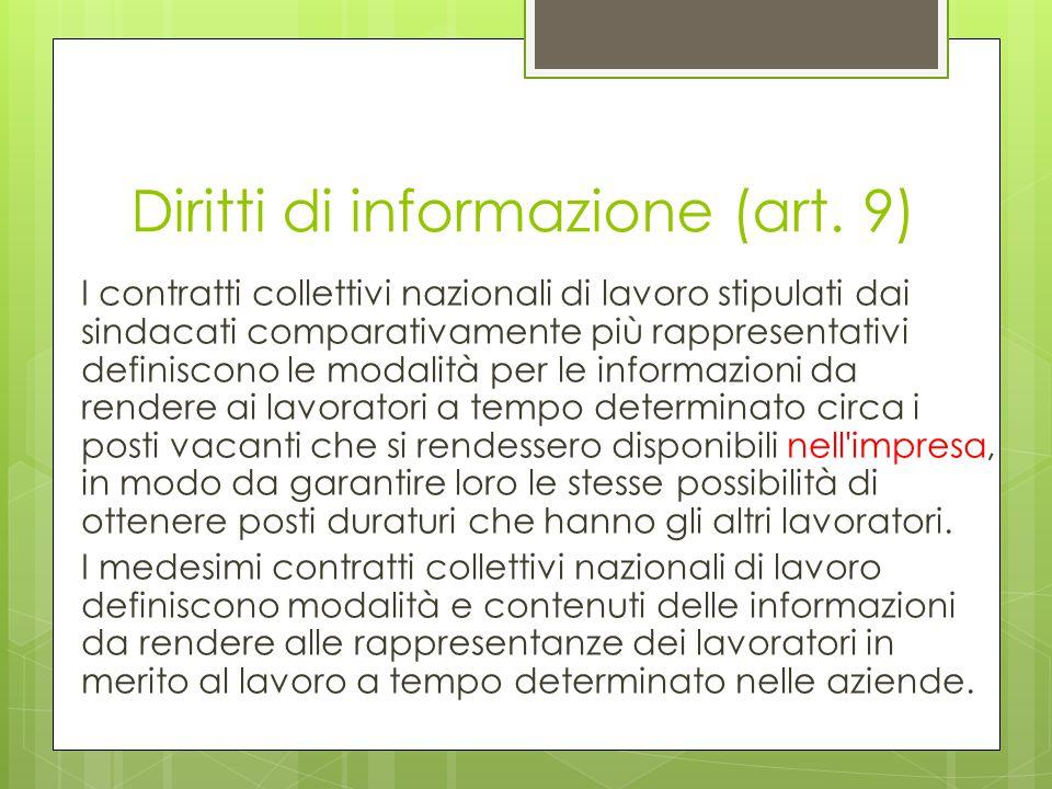 Diritti di informazione (art. 9)