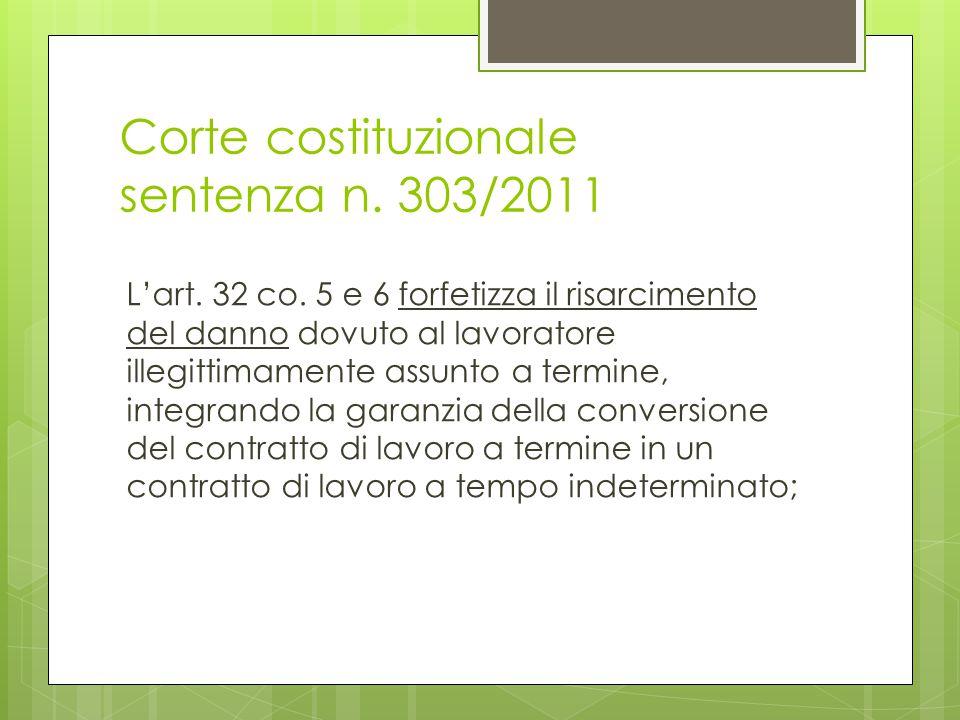 Corte costituzionale sentenza n. 303/2011
