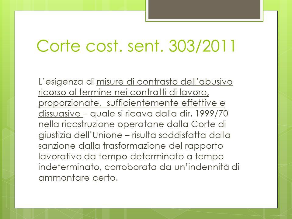 Corte cost. sent. 303/2011