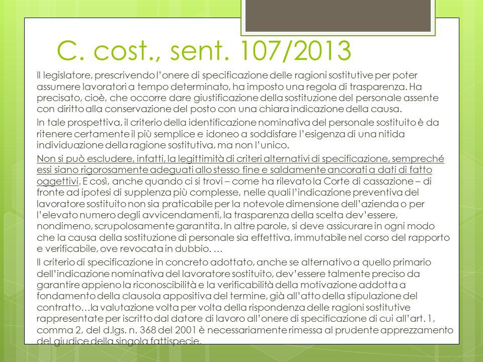 C. cost., sent. 107/2013