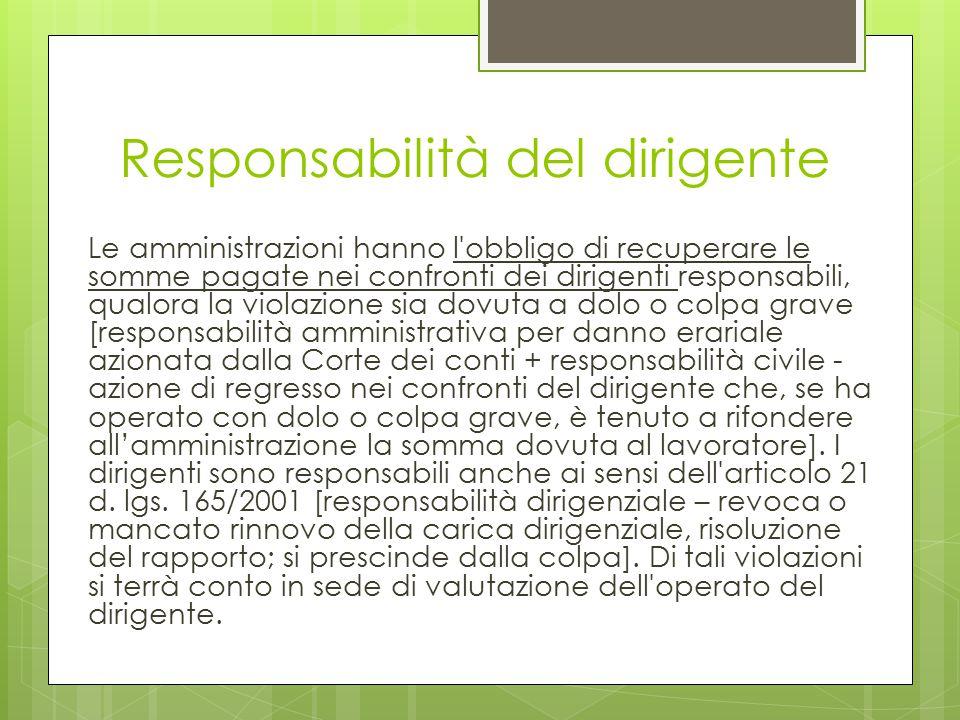 Responsabilità del dirigente
