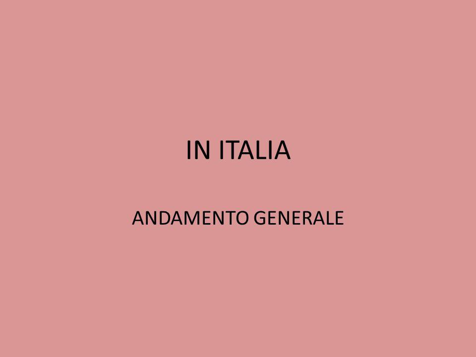 IN ITALIA ANDAMENTO GENERALE