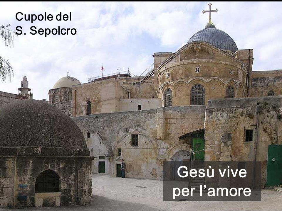 Cupole del S. Sepolcro Gesù vive per l'amore